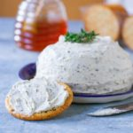 Appetizer Homemade Boursin Cheese with Crackers