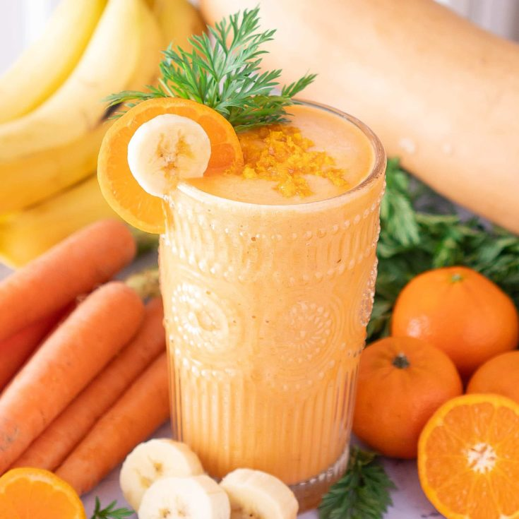 Sweet Orange Creamsicle Smoothie with Vegetables