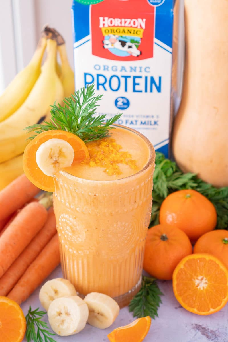 Orange Cream Smoothie with Horizon Organic High Protein Milk
