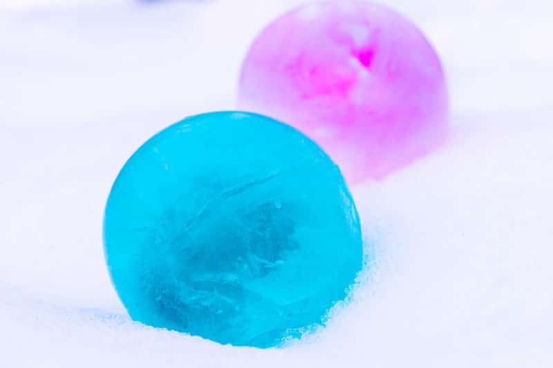 Blue and Pink Ice Balloons