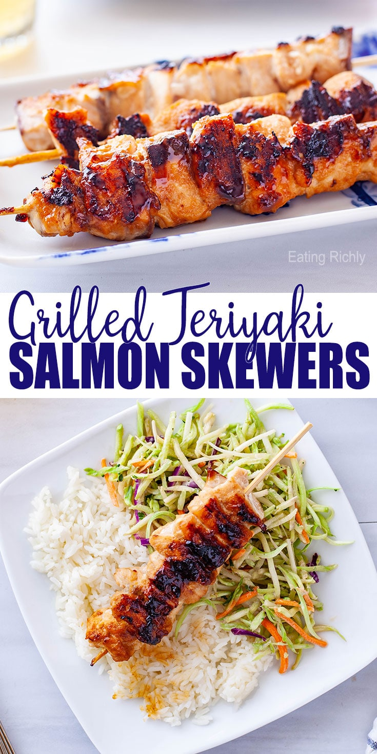 Grilled Teriyaki Salmon Skewers Recipe