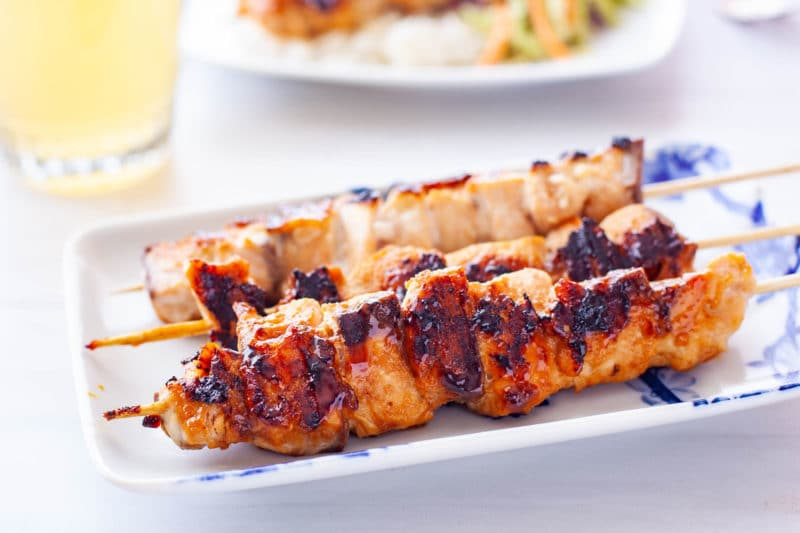 Grilled Teriyaki Salmon Kabobs