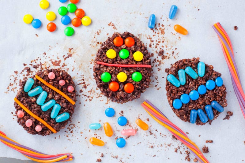 Chocolate Easter Rice Krispie Treats