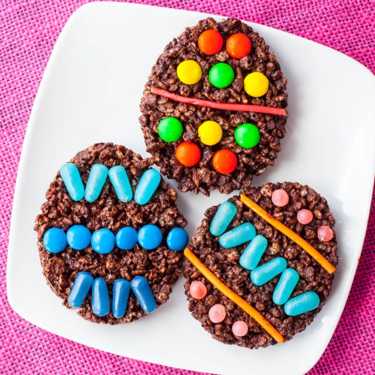 Easter Rice Krispie Treats with Chocolate