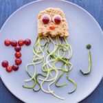 Peanut Butter Jellyfish Sandwich with Zucchini Noodle Tentacles is a fun way to teach the alphabet to your preschooler!