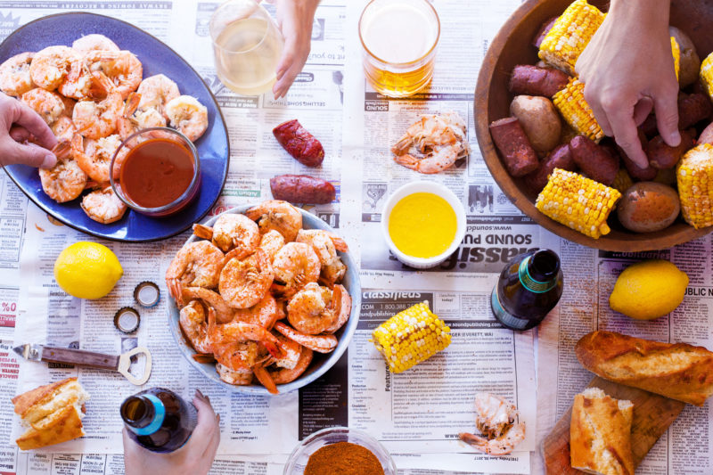 Shrimp Boil Party Table