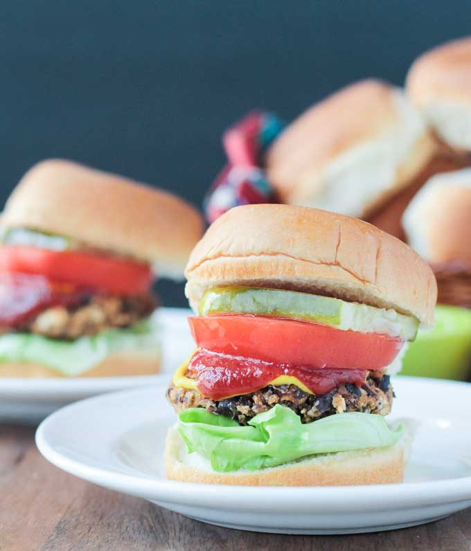 Black Bean Salsa Burgers (15 Minute Recipe)