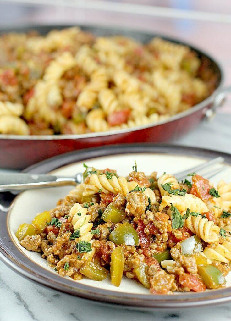 Sloppy Joe Pasta · Erica's Recipes