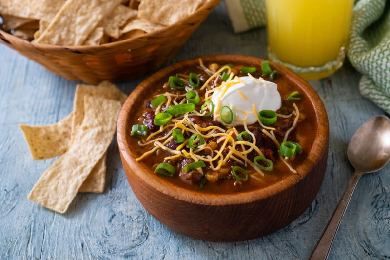 Taco Soup with Sour Cream