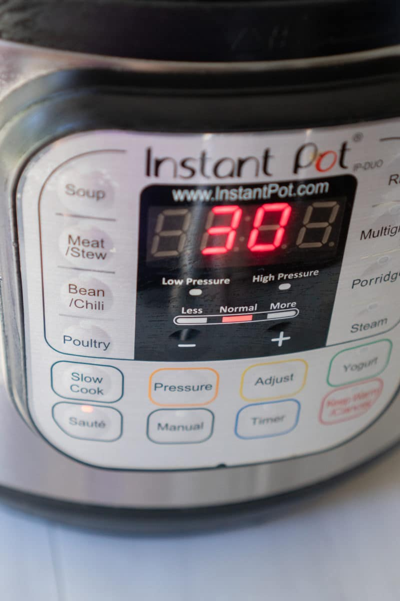 Instant Pot on Saute Setting