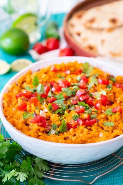 Madras Lentils Indian Dinner