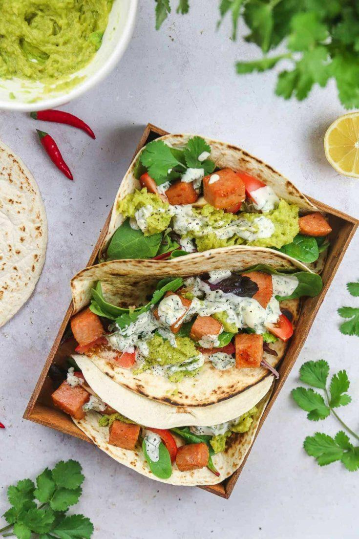 Easy SPAM® and Avocado Tacos