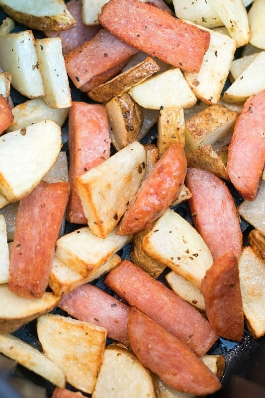 Air Fryer SPAM and Potatoes Recipe