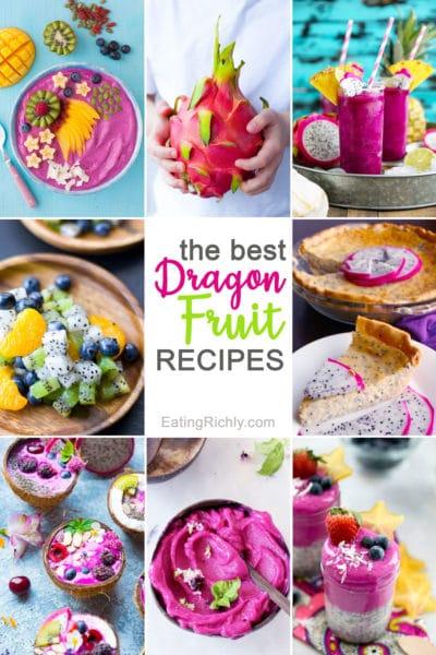 Dragon Fruit Recipes Collage