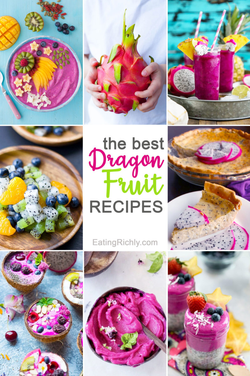 Dragon Fruit Recipes Collage