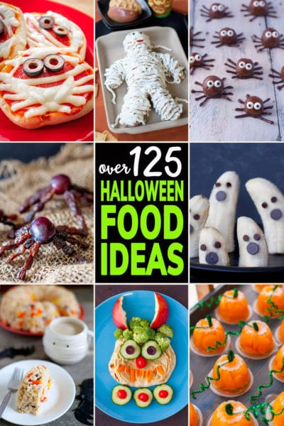 Photo Collage of Cute Halloween Food Ideas