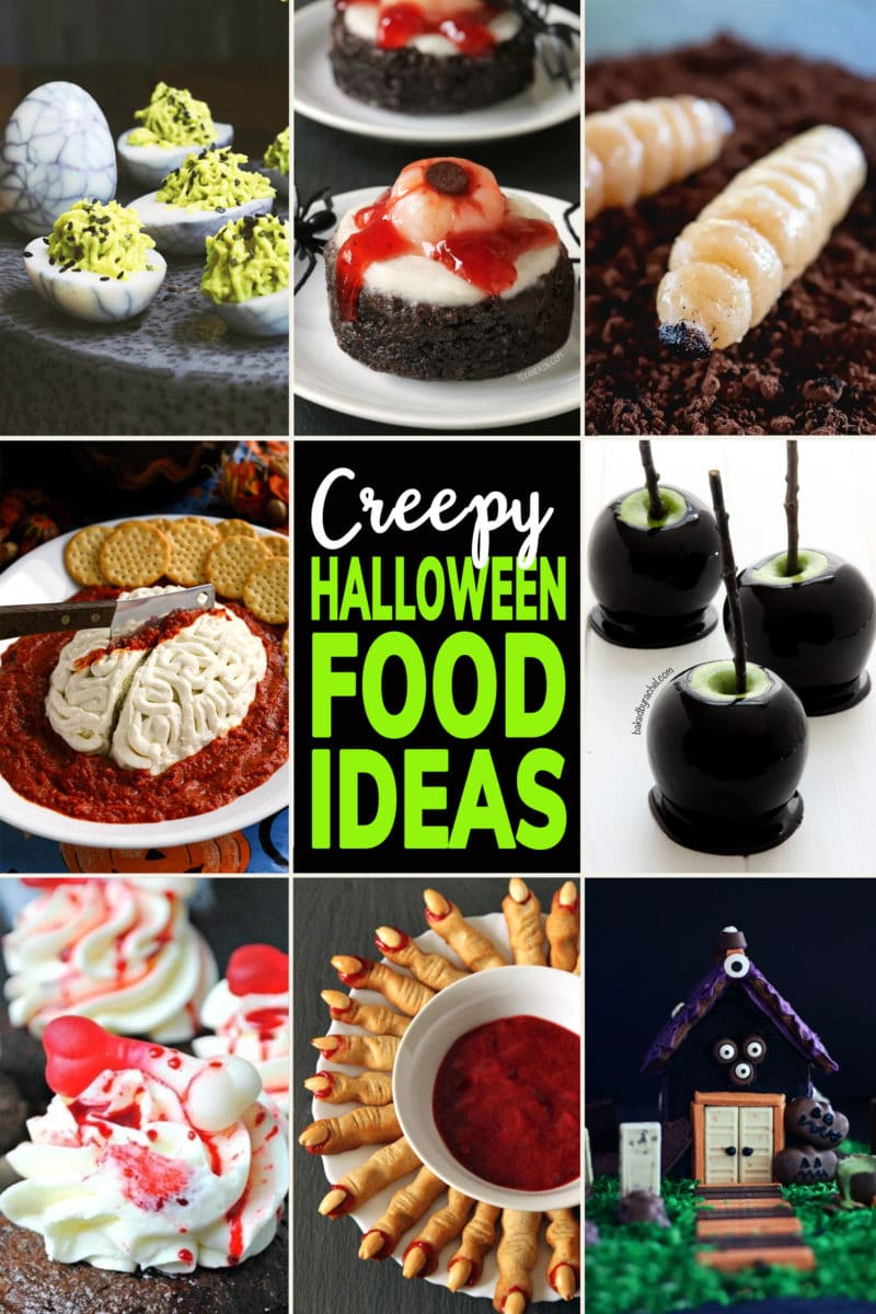 Photo Collage of Creepy Halloween Food Ideas