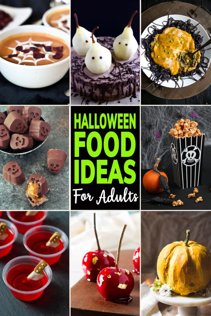 Photo Collage of Halloween Food Ideas for Adults