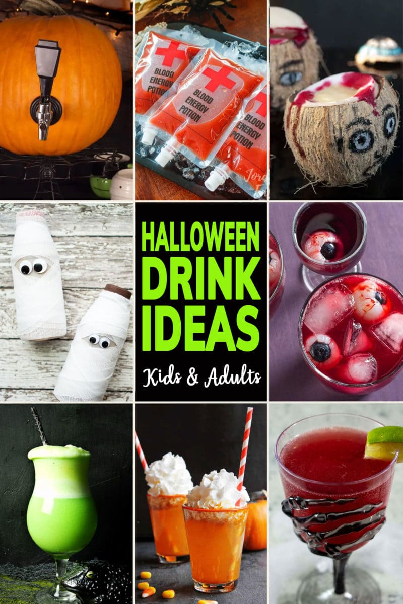 Photo Collage of Cute Halloween Drink Ideas