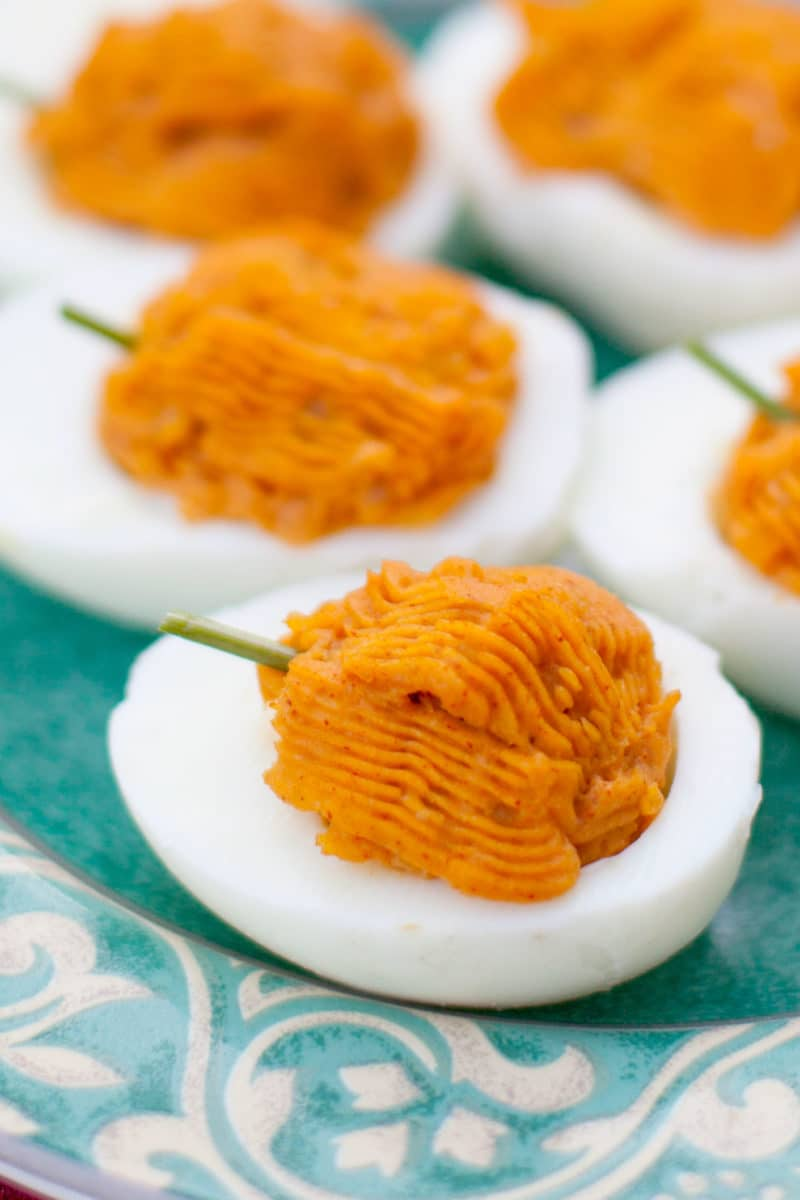 Deviled Egg Pumpkins
