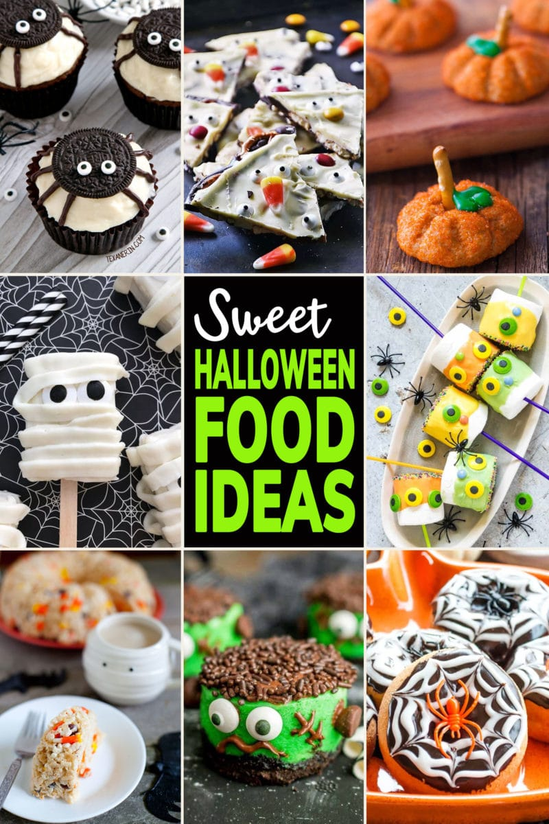 Photo Collage of Cute Sweet Halloween Food Ideas