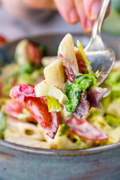 BLT Pasta Salad Recipe Weight Watchers Friendly