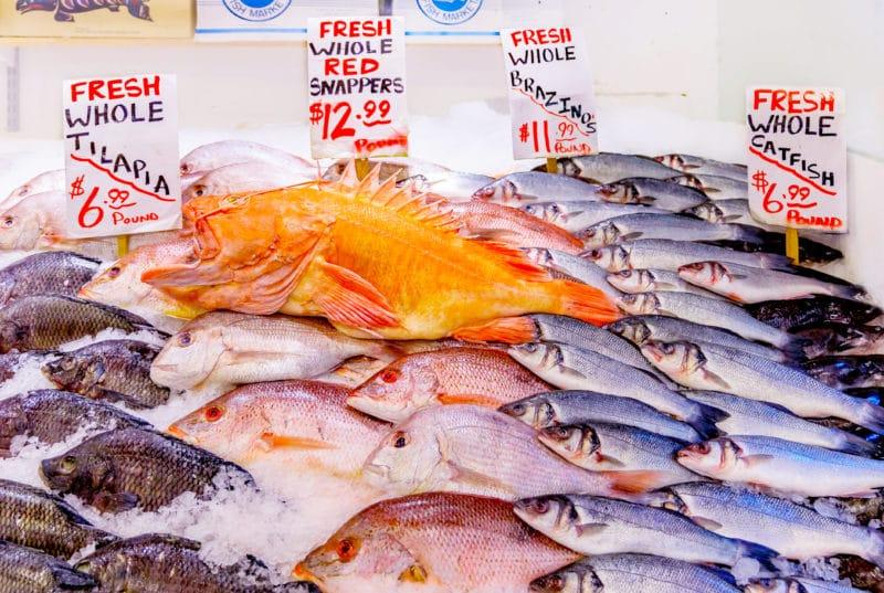 Fish Market in Pike Place Market Seattle