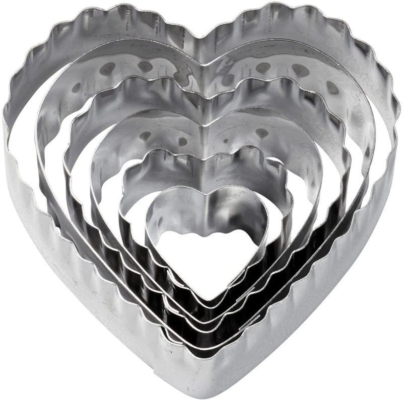 Nesting heart shaped fondant cutters