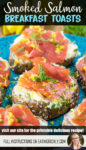 multigrain bread rounds topped with herb butter, smoked salmon, and chopped dill and lemon zest